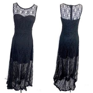 Windsor formal dress with lace overlay black - M